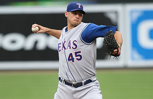 Jamey Wright pitched for the Texas Rangers in 2007-08 where In 2 seasons with the Rangers, he was 12-12 with a 4.41 ERA, pitching primarily out of the bullpen. Photo Courtesy: Keith Allison