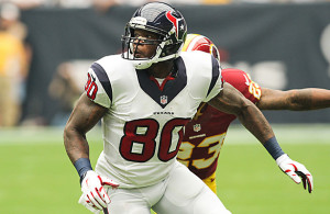 Andre Johnson spent his entire 12-year career with the Texans and is the franchise's all-time leader in receptions and receiving yards. Photo Courtesy: Darryl Briggs