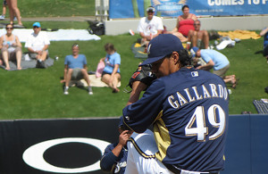 Yovani Gallardo is familiar with starting on opening day and has high expectations. Photo Courtesy: Douglas Hoyt