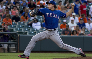 The Texas Rangers pitcher Derek Holland will start the home opener. Photo courtesy: Keith Allison