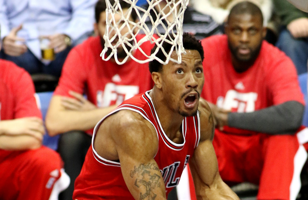 How much of an impact will a healthy Derrick Rose have? Photo Courtesy: Dominic Ceraldi