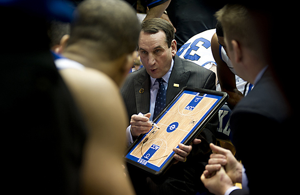 Will Mike Krzyzewski and the Blue Devils end Sparty's run? Photo Courtesy: D. Myles Cullen