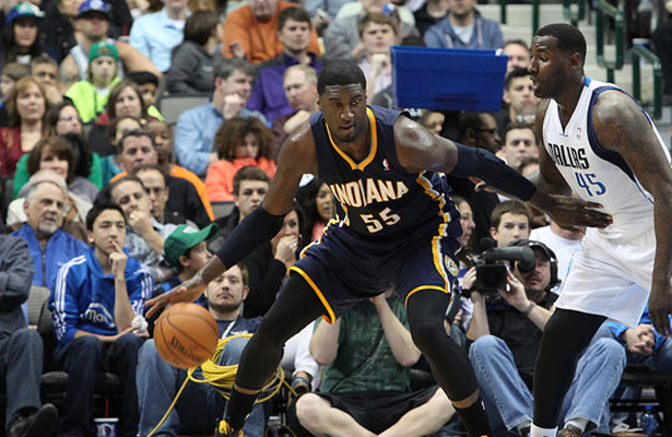 Big man. Big contract. Big expectations for Roy Hibbert. Photo Courtesy: Dominic Ceraldi