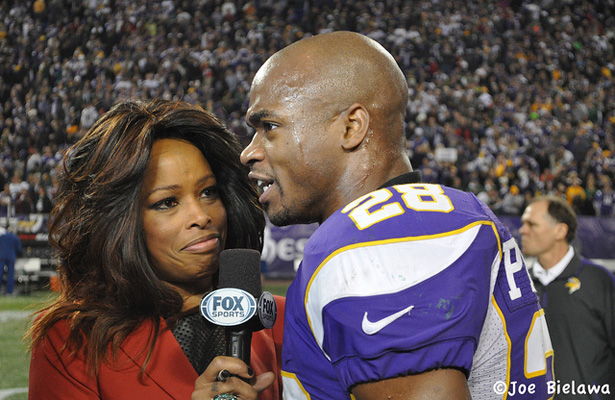 This could be the last time you see Adrian Peterson in a Vikings uniform, then again; maybe not. Photo Courtesy: Joe Bielawa