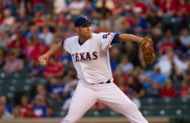 Colby Lewis and the Rangers feel good about sweeping the Yankees in the Bronx. Photo Courtesy: Darryl Briggs