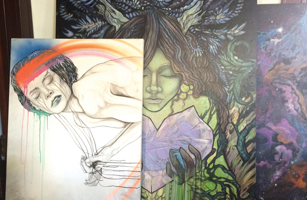 Jerod Davies art is going big time and gaining national prominence. Photo Courtesy: Jerod Davies