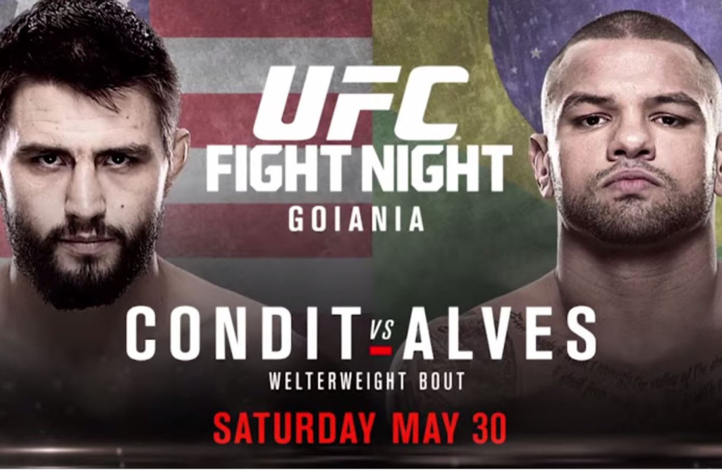 UFC Fight Night will take place on May 30th Photo Courtesy: Youtube