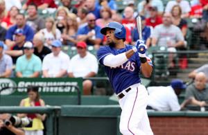 This season Elvis Andrus has been making up his fielding miscues with his bat. Photo Courtesy: Dominic Ceraldi