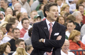 Pitino is also one of only two coaches (along with Roy Williams) in NCAA history to have led two different programs to at least three Final Fours each, one of only four coaches (Dean Smith, Mike Krzyzewski, Jim Boeheim) ever to take his school to the Final Four in four separate decades. Photo Courtesy: Brad J. Ward