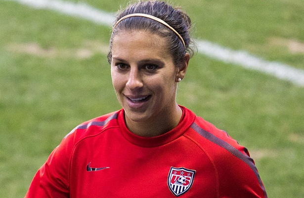 Carli Lloyd not only scored a hat trick against Japan in the championship game but also was named the Golden Ball award winner in this year's Women's World Cup. Photo Courtesy: Ampatent
