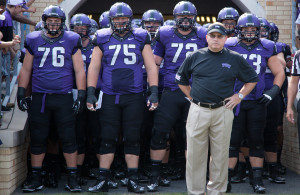 Gary Patterson and the TCU Horned Frogs look to improve from at great 2015 campaign. Might even creep into the College Football Playoffs, why not?Photo Courtesy: Kent Gilley
