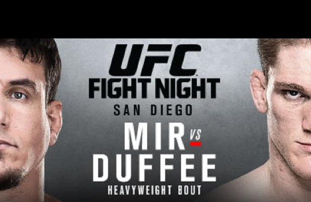 UFC Fight Night 71 pits  former UFC Heavyweight champion Frank Mir against touted prospect Todd Duffee.