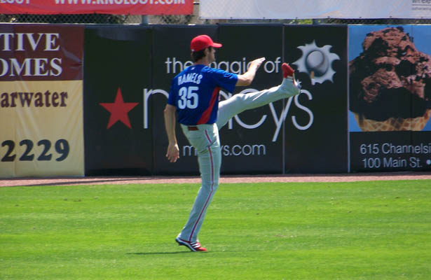 Hopefully Cole Hamels will continue marching toward a playoff run. Photo Courtesy: Brendan Marsh
