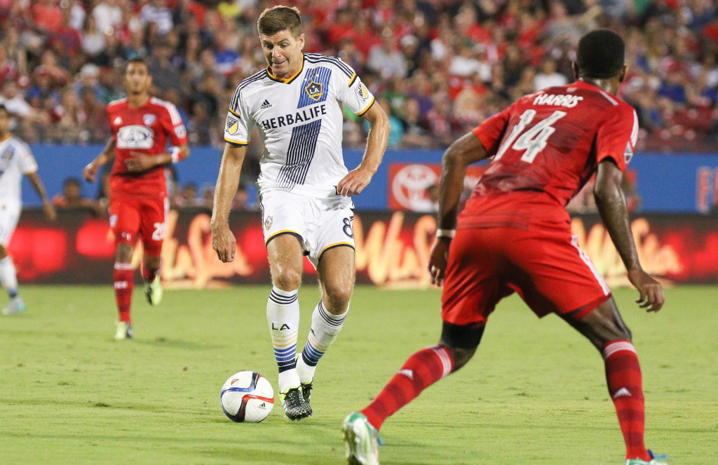 Steven Gerrard brought in new crowds in his first match at FC Dallas. Photo Courtesy: Michael Kolch