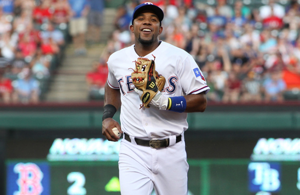 Elvis Andrus had an excellent series against the San Diego Padres. Photo Courtesy: Dominic Ceraldi