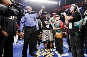 Will Floyd Mayweather by 49-0 after the fight? Photo Courtesy: Esther Lin