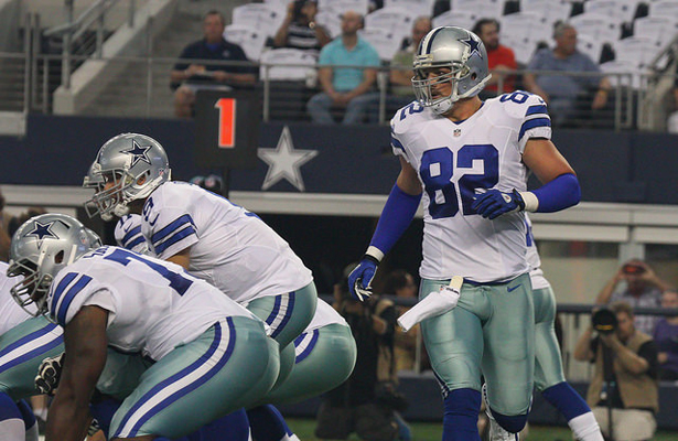 Jason Witten came up big with the last second winning TD reception against the New York Giants. Photo Courtesy: Michael Kolch