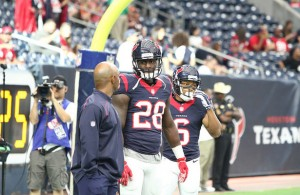 Alfred Blue is back in the saddle again as the featured running back for the Houston Texans. Photo Courtesy: Rick Leal