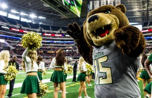 The Baylor Bears were ready to party after winning on the road against the Kansas Jayhawks. Photo Courtesy: Matthew Lynch