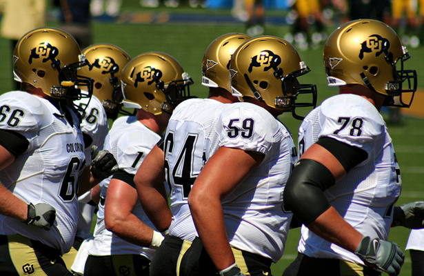 If the big uglies up front do their job, the Buffaloes should win on Saturday. Photo Courtesy: John Martinez Pavliga