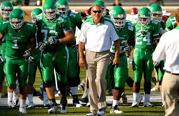UNT Head Coach Dan McCarney had a 22-32 records in his time with the Mean Green. Photo Courtesy: Joe Lorenzini