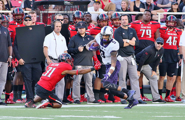 Josh Doctson had an amazing game against Texas Tech and is looking for a similar performance against the Longhorns. Photo Courtesy: Dominic Ceraldi