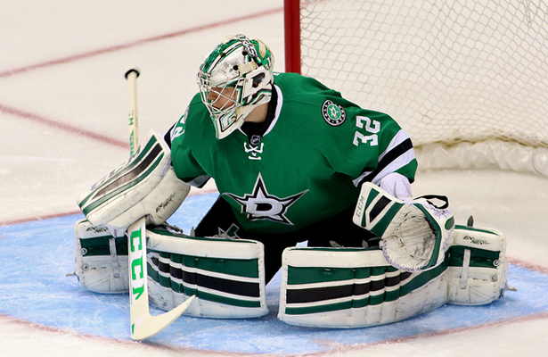 Kari Lehtonen earned a win in his first start since his lower-body injury in late-November. Photo Courtesy: Dominic Ceraldi