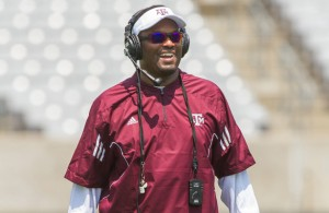 Aggies Head Coach Kevin Sumlin will have his team ready to play on Saturday. Photo Courtesy: Diane C. McDonald