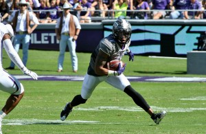 TCU WR Kolby Listenbee is back after a two week injury hiatus. Photo Courtesy: Dominic Ceraldi