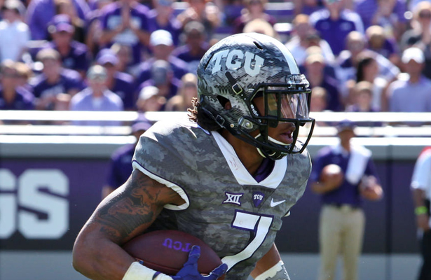TCU Horned Frog WR Kolby Listenbee is healthy, providing Boykin with the deep threat that's needed to keep the safeties honest. Photo Courtesy: Dominic Ceraldi