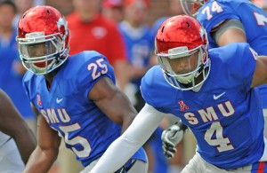 Matt Davis and the SMU Mustangs continue to turn the ball over to end their drives. Photo Courtesy: Joseph Dowling