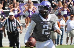 If Trevone Boykin wins the Heisman Trophy, his 69-yard TD run against Kansas State will be on the highlight reel. Photo Courtesy: Dominic Ceraldi