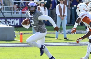 Trevone Boykin lead the Horned Frogs to a route against the Texas Longhorns.