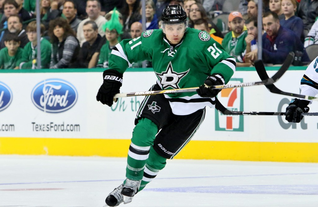 Antoine Roussel scored the game winning goal against the Sharks on Saturday. Photo Courtesy: Dominic Ceraldi