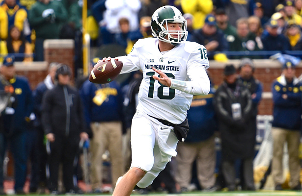 Will the Dallas Cowboys select Michigan State quarterback Connor Cook if he's available in the first round of the draft? Photo Courtesy: MGoBlog