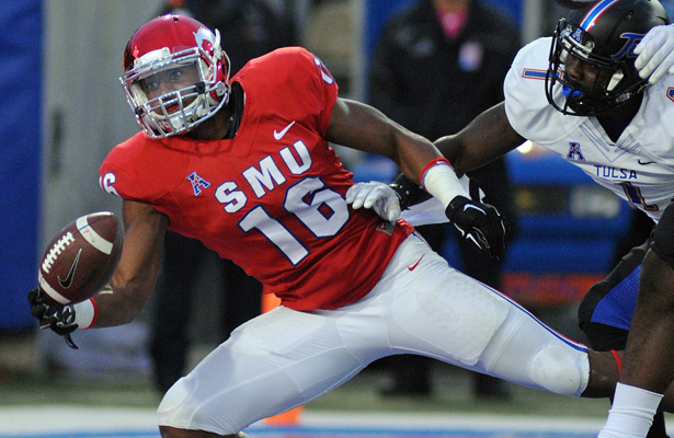 For SMU to be victorious WR Courtland Sutton will need to make a few great receptions. Photo Courtesy: Joseph Dowling