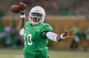In order for DaMarcus Smith to keep the Mean Green QB job for next season, he has to play much better. Photo Courtesy: Sandy McAnally