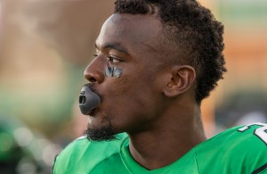Mean Green RB Jeffrey Wilson only gained 52 yards rushing against a stout Volunteer defense on Saturday. Photo Courtesy: Sandy McAnally