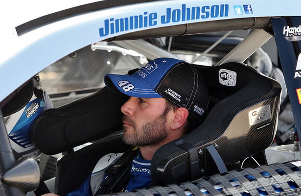Jimmie Johnson took the checkered flag at the AAA Texas 500 also won the spring race at Texas and is the first driver to win three consecutive Cup races at the high-banked, 1½-mile track. Photo Courtesy: Dominic Ceraldi