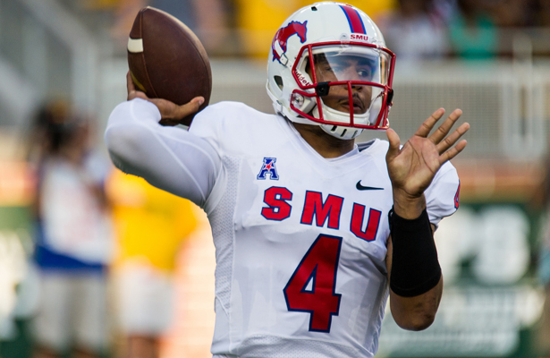 SMU QB Matt Davis had an excellent game by passing for 165 yards and rushing for 156 yards against the Tulane Green Wave. Photo Courtesy: Matthew Lynch