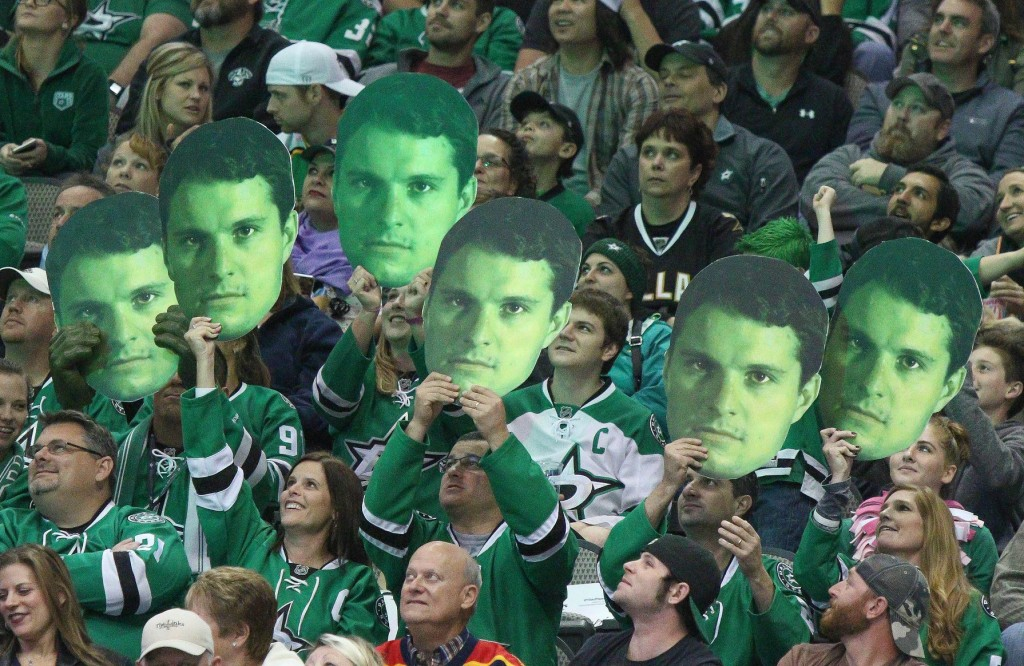 The Roussel green heads were out Saturday as Antoine Roussel scored the game winner, on his 26th birthday. Photo Courtesy: Dominic Ceraldi