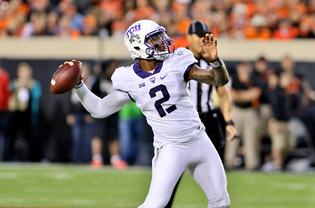 TCU QB Trevone Boykin might have dropped a notch or two in the Heisman race after last week's loss. Photo Courtesy: Dominic Ceraldi