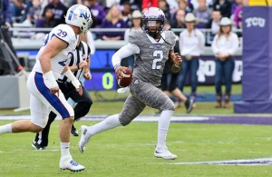 The status of TCU QB Trevone Boykin is still unknown for Saturday's game with the Oklahoma Sooners. Photo Courtesy: Dominic Ceraldi
