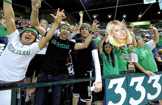 The North Texas Mean Green fans love to get rowdy at home games. Photo Courtesy: Joe Lorenzini