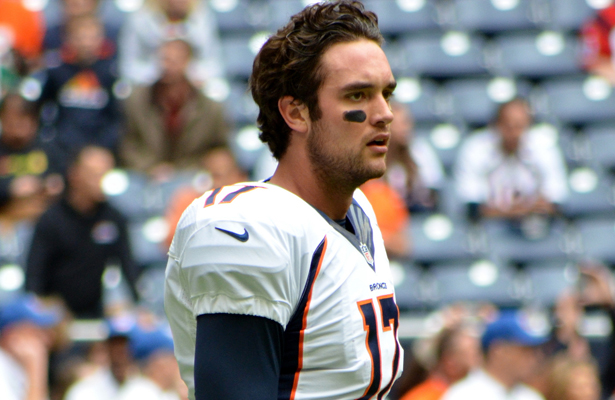 Broncos QB Brock Osweiler must be feeling sore after being sacked five times by the Raiders. Photo Courtesy: The Brit_2