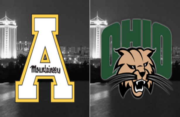 Appalachian State in their first-ever bowl game taking on Ohio. Photo Courtesy: Raycom Camellia Bowl Twitter page