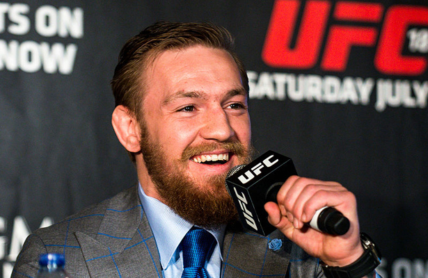Sure McGregor (pictured) vs. dos Anjos sounds appealing but we think Conor should stay in his current weight class. Photo Courtesy: Andrius Petrucenia