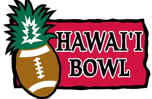 The Hawai'i Bowl is sounding better and better...Sun, surf, sand, football, what's not to love? Photo Courtesy: Hawai'i Bowl Twitter Page