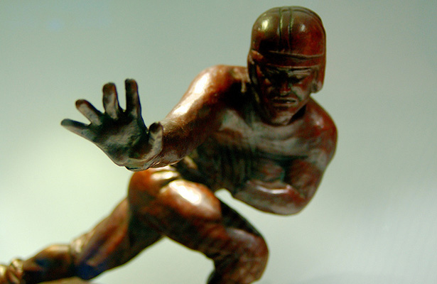 Created in 1935, the Heisman Memorial Trophy Award is whose performance best exhibits the pursuit of excellence with integrity. Photo Courtesy: Steve Grant