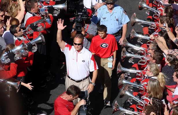 Georgia Bulldogs head coach Mark Richt will be coaching his final bowl game soon, but how will that affect the betting lines? Photo Courtesy: Gregor Smith